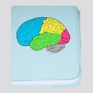 Primary Brain baby blanket