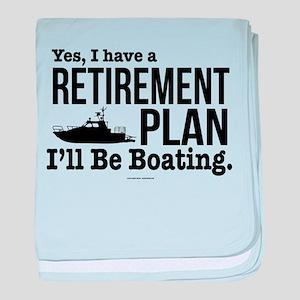 Boating Retirement baby blanket