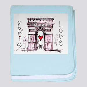 Paris with love baby blanket