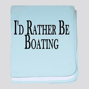 Rather Be Boating baby blanket