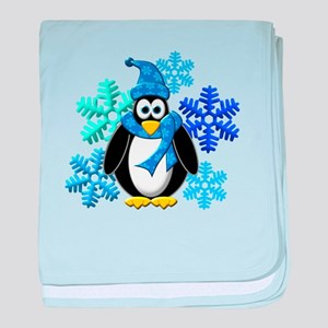 Penguin Snowflakes Winter Design baby blanket