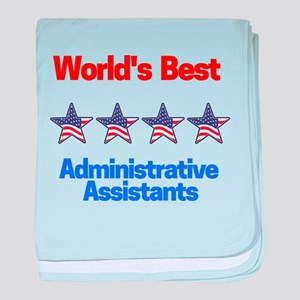 World's Best Administrative Assistant baby blanket