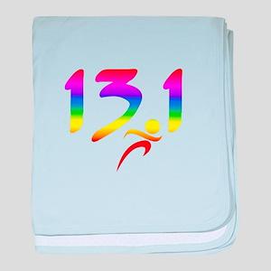 Rainbow 13.1 half-marathon baby blanket