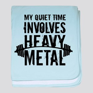 My Quiet Time Involves Heavy Metal baby blanket