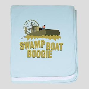 Swamp Boat Boogie baby blanket