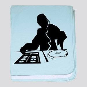 Dj Mixing Turntables Club Music Disc baby blanket