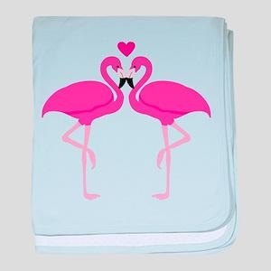 Pink Flamingoes baby blanket