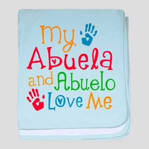 Abuelo and Abuela Love Me baby blanket