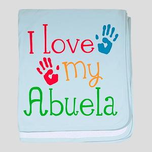 I Love Abuela baby blanket