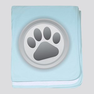 Paw Print baby blanket