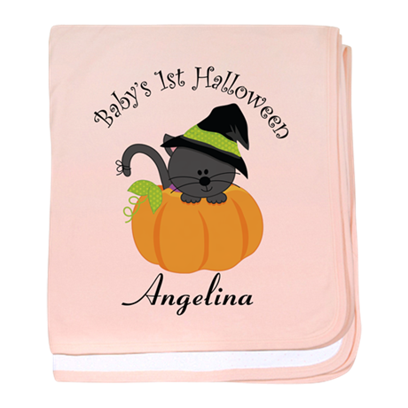 Personalized 1st Halloween baby blanket