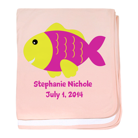 Fish (pink) Baby Blanket