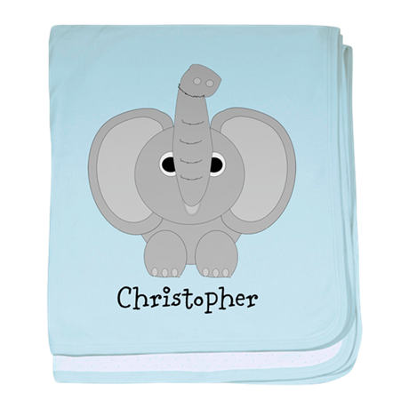 Personalized Elephant Design baby blanket