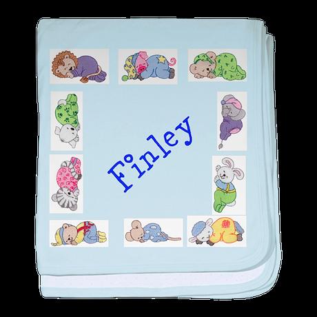 Personalised Baby Blanket Sleepy Animals