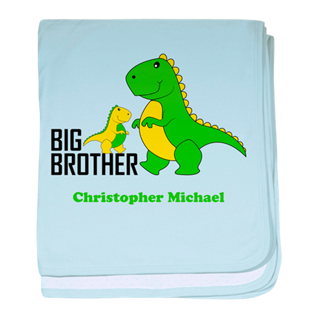 Big Brother Dinosaurs Baby Blanket