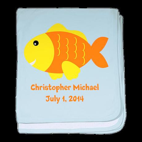 Fish (orange) Baby Blanket