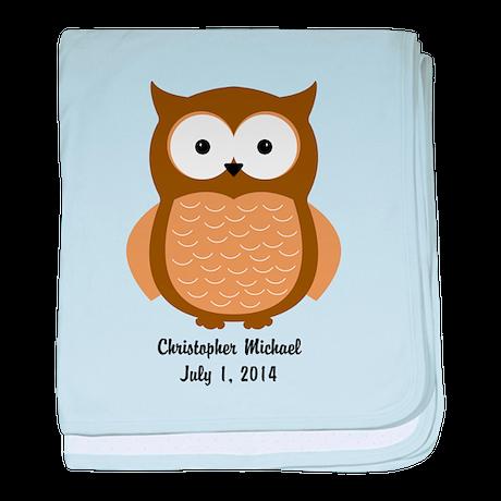Owl (brown) Baby Blanket