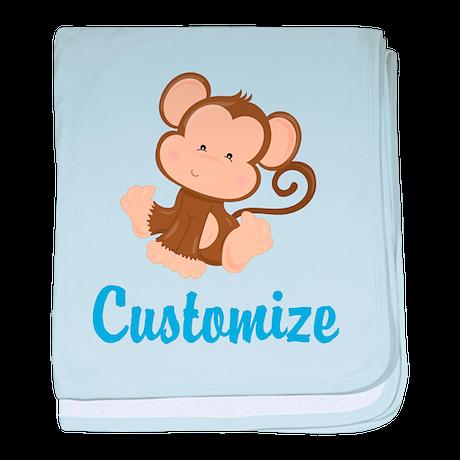 Custom Monkey baby blanket