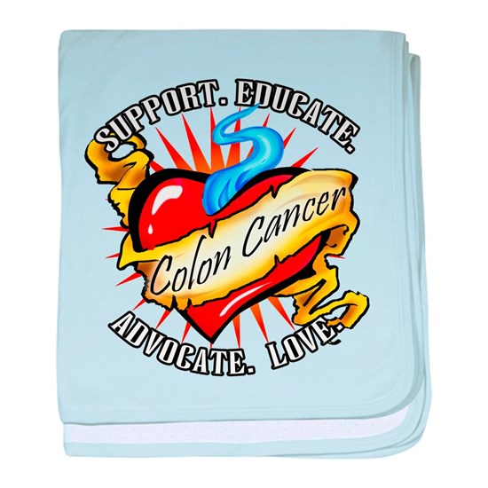Colon Cancer Tattoo Heart Baby Blanket By Cuddleswithcats Cafepress