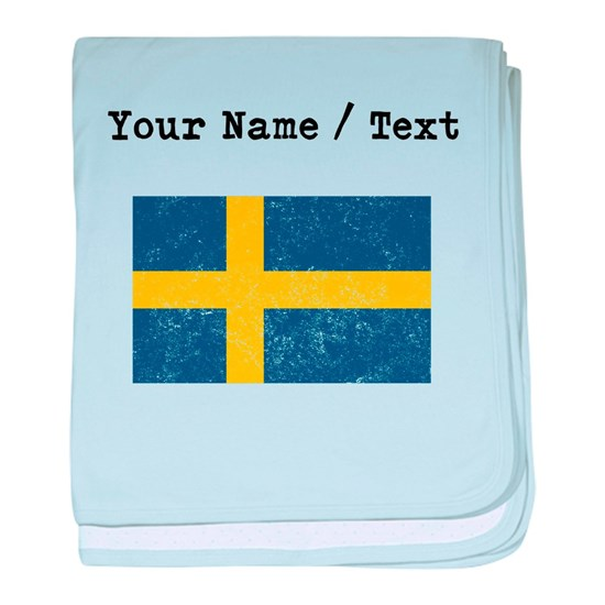 Custom Distressed Sweden Flag
