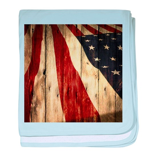 wood grain USA American flag