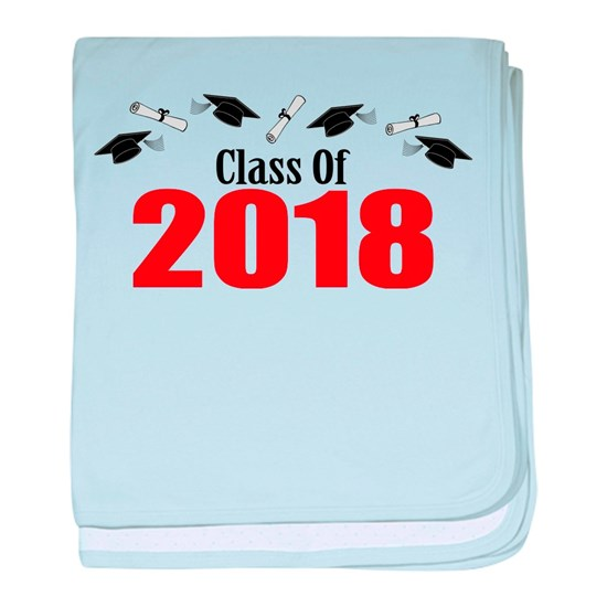 Class Of 2018 Red Caps And Diplomas