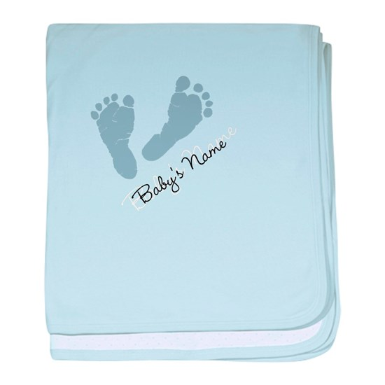 Baby Blue Footprints and Baby Name