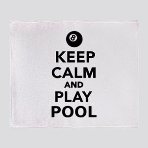 Keep calm and play pool billiards Throw Blanket