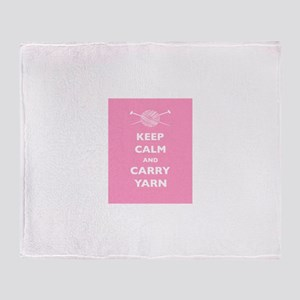 Keep Calm Carry Yarn Throw Blanket