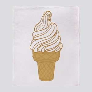 Soft Serve Ice Cream Cone Throw Blanket