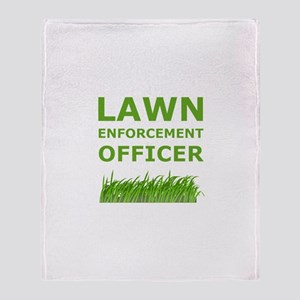 Lawn Enforcement Officer Throw Blanket