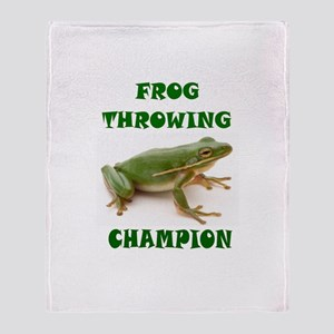 FROG Throw Blanket