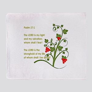 Psalm 27:1 Throw Blanket