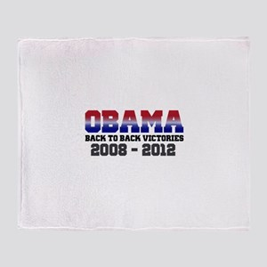 Obama Back to Back Victory Throw Blanket
