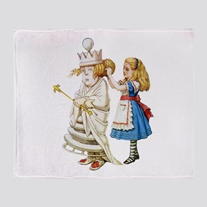 ALICE & THE WHITE QUEEN Throw Blanket