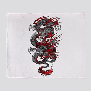 Asian Dragon Throw Blanket