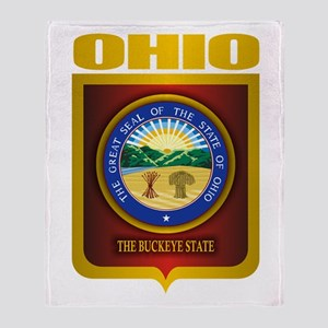 Ohio State Seal (B) Throw Blanket