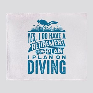 Retirement Plan Diving Stadium Blanket