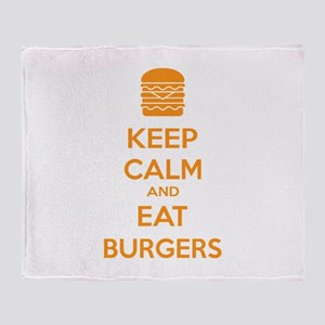 Keep calm and eat burgers Throw Blanket