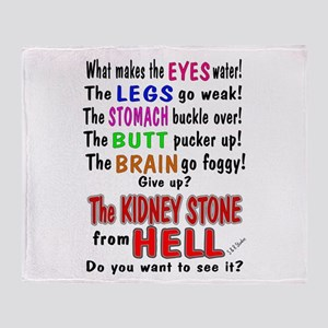kidney stone Throw Blanket