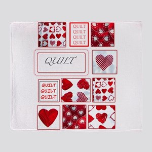 Love to Quilt Throw Blanket