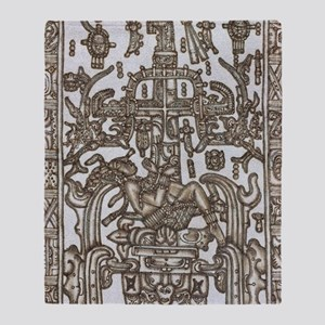 Mayan Ruler Pakal Kim  Throw Blanket