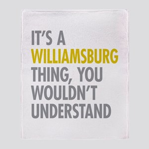 Williamsburg Thing Throw Blanket