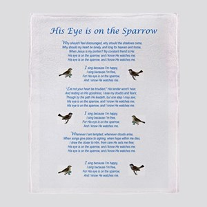 Eye On The Sparrow Throw Blanket