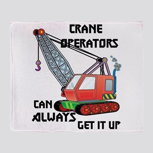 Crane Operator Throw Blanket
