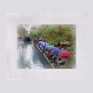 The Riverwalk in Art Throw Blanket