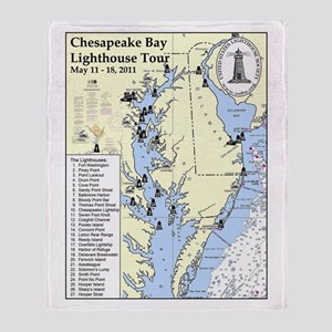 Chesapeake Map Throw Blanket