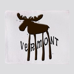 Vermont Moose Throw Blanket