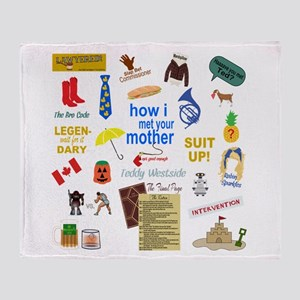 HIMYM Quote and Symbol Collage Throw Blanket