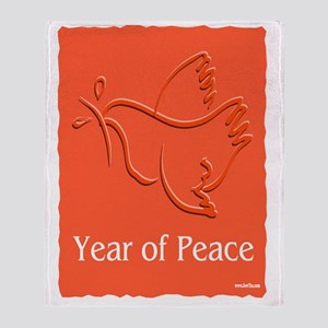 Year Of Peace Throw Blanket